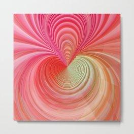 Pastel energy swirl Metal Print