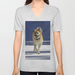 IcelandicSheepdog20150402 Unisex V-Neck