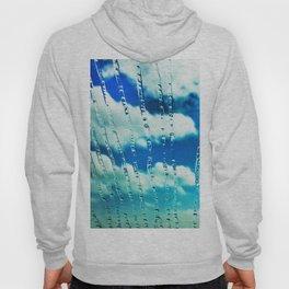 444 - Raindrops on glass Hoody