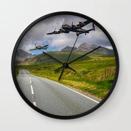 Lancaster Bomber in Snowdonia Wall Clock