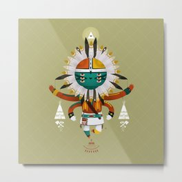 Kachina Toy Metal Print