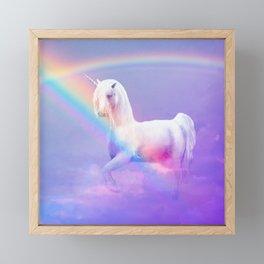 Unicorn and Rainbow Framed Mini Art Print