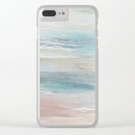 Sea breeze, acrylic on canvas Clear iPhone Case