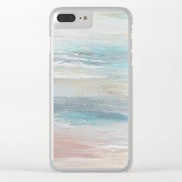 Sea breeze, acrylic on canvas Clear iPhone Case