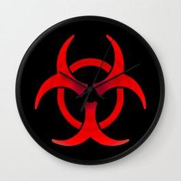 Biohazard - Red Wall Clock