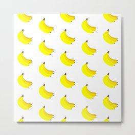 Banana Bunch Pattern Metal Print
