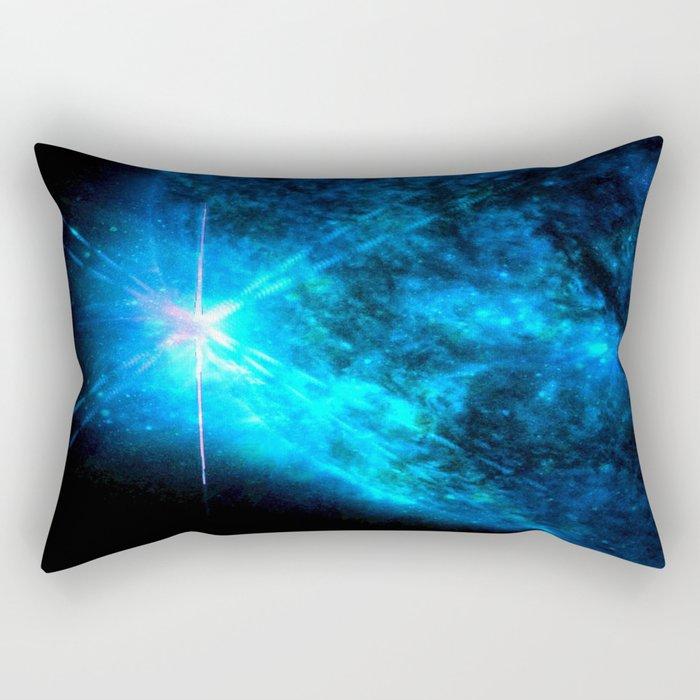 Blue Starlight Rectangular Pillow