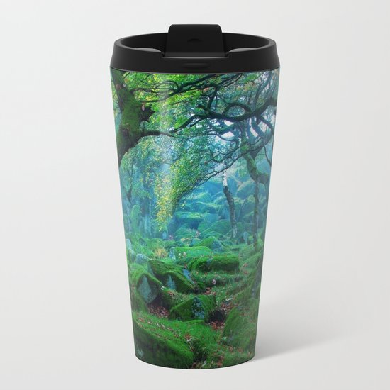 Enchanted forest mood Metal Travel Mug
