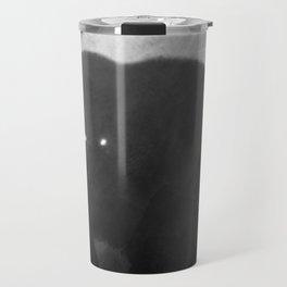 Black and White Bear Silhouette Travel Mug