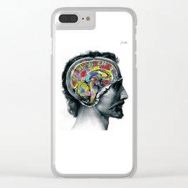 Brain colors fashion Jacob's Paris Clear iPhone Case