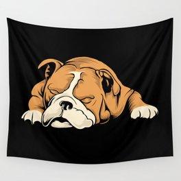 English Bulldog   Dog Lover Wall Tapestry
