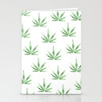 cannabis Stationery Cards featuring Cannabis   by kristinesarleyart
