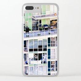 Voyeuristic 0307 Vancouver Cityscape Luxury Symmetry Clear iPhone Case