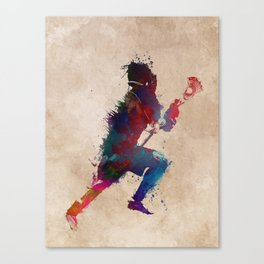 Lacrosse player art 1 Canvas Print