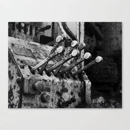 Levers Canvas Print