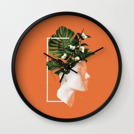 minima Lady Flowers Wall Clock