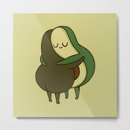 Avo- Cuddle Metal Print