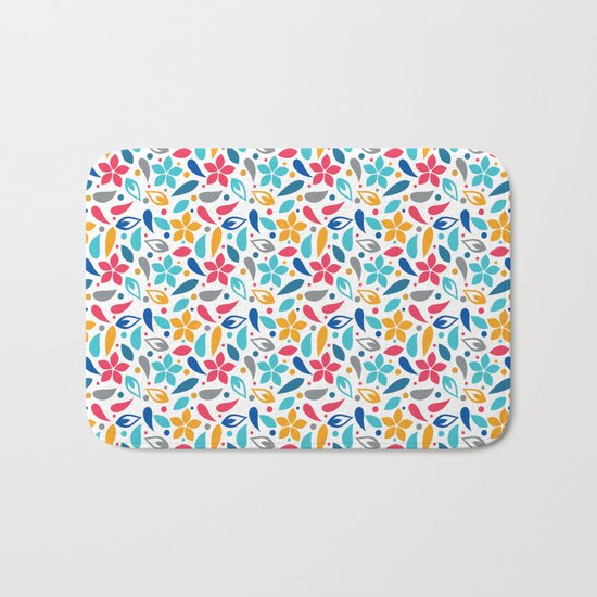 Colorful Lovely Pattern X Bath Mat