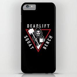 Squat Bench Deadlift Grim Reaper iPhone Case
