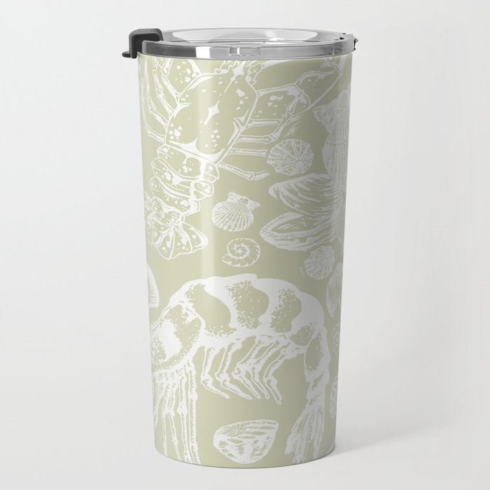 Ocean Critters with Grey Background Travel Mug
