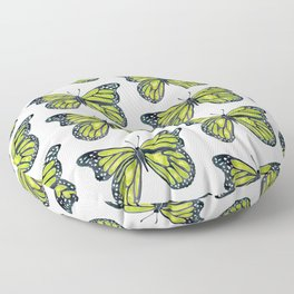 Lime Butterfly Floor Pillow