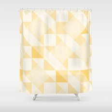 All Yellow Triangle Pattern Shower Curtain