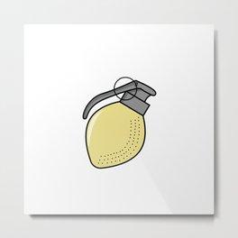 Lemon Grenade Metal Print