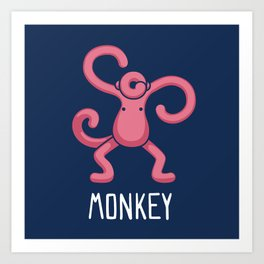 A Monkey (That is Definitely not an Octopus) Art Print