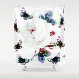 Rose and Butterflies Shower Curtain