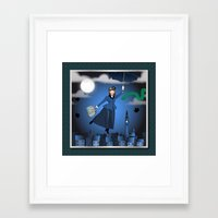 mary poppins Framed Art Prints featuring Mary Poppins by Vannina