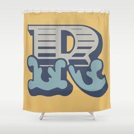 'The letter R' Design Motif Shower Curtain