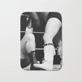 wrestling boots Bath Mat