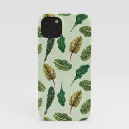 Go Green - Leafy Green Pattern iPhone Case