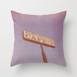 Day Breakers Cafe Throw Pillow