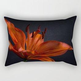 Orange Lily with Backlight Botanical / Nature / Floral Photograph Rectangular Pillow