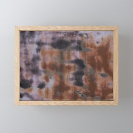 Copper and Iron abstract pattern Framed Mini Art Print