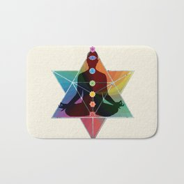 Sacred Geometry Merkaba Chakra Meditation Bath Mat