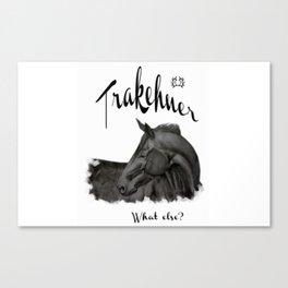 "Laptop/Ipad skin ""Trakehner - what else?"" Canvas Print"