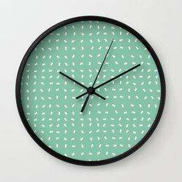 Minty Fresh Confetti Party Wall Clock