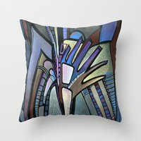 wings Throw Pillows featuring WINGS by Deyana Deco
