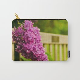 Park Bench with Lilac Nature / Floral / Botanical Photograph Carry-All Pouch