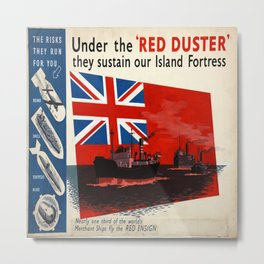Vintage poster - Under the Red Duster Metal Print