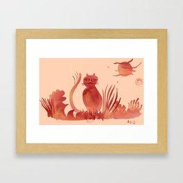 CAT under the SUN Framed Art Print