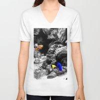 nemo V-neck T-shirts featuring Nemo and Dora by Efua Boakye