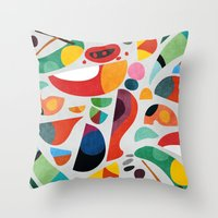 kitchen Throw Pillows featuring Still life from god's kitchen by Picomodi