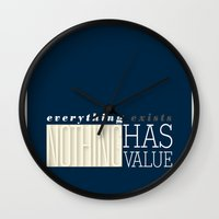 literary Wall Clocks featuring Literary Quote Poster — A Passage to India by E.M. Forster by Evan Beltran
