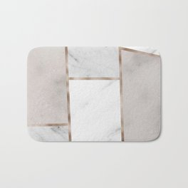 Taupe stones - rose gold adorns Bath Mat