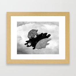 Space and the Cat Framed Art Print