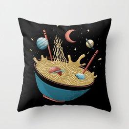 Spacey Ramen (Color Variant) Throw Pillow