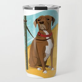 Boxer Dog Art Illustration Travel Mug
